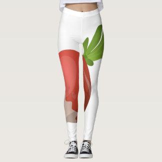 Glitch Food radish Leggings