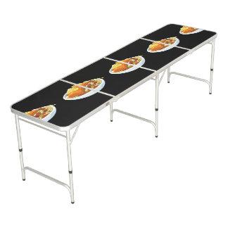 Glitch Food salmon jaella Beer Pong Table