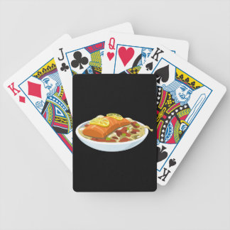 Glitch Food salmon jaella Bicycle Playing Cards