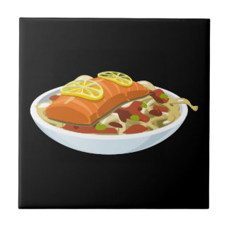 Glitch Food salmon jaella Tile