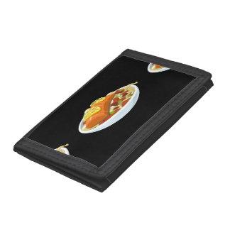 Glitch Food salmon jaella Tri-fold Wallets
