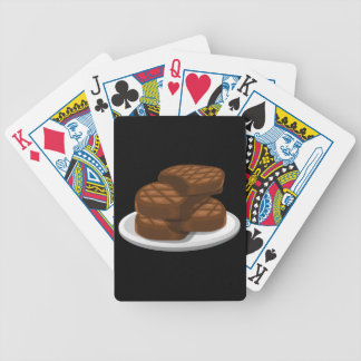 Glitch Food simple bbq Bicycle Playing Cards