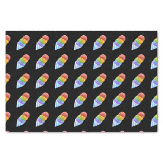 Glitch Food sno cone rainbow Tissue Paper