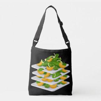 Glitch Food spinach salad Crossbody Bag