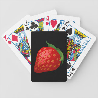Glitch Food strawberry Bicycle Playing Cards