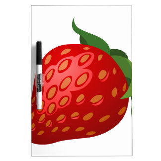 Glitch Food strawberry Dry Erase Board