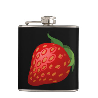 Glitch Food strawberry Hip Flask