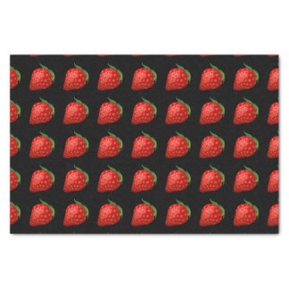 Glitch Food strawberry Tissue Paper