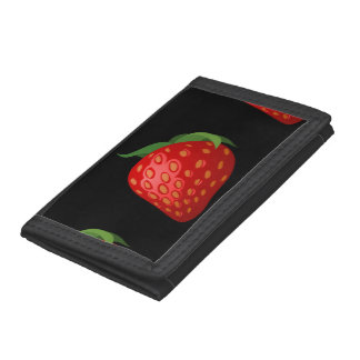 Glitch Food strawberry Trifold Wallets