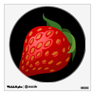Glitch Food strawberry Wall Sticker