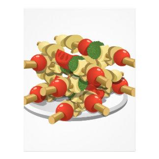 Glitch Food super veggie kebabs Customized Letterhead