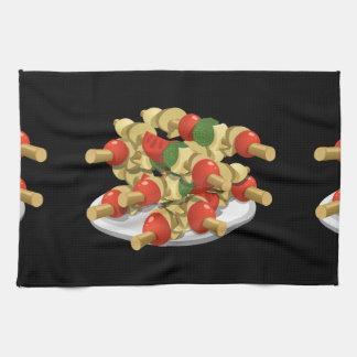Glitch Food super veggie kebabs Kitchen Towel