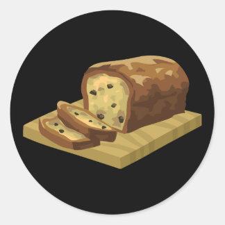 Glitch Food swank zucchini loaf Classic Round Sticker