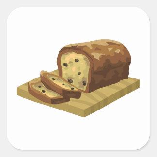 Glitch Food swank zucchini loaf Square Sticker