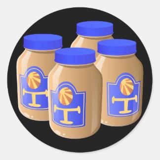 Glitch Food tangy sauce Classic Round Sticker