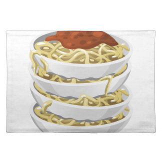 Glitch Food tasty pasta Placemat