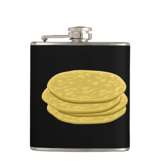 Glitch Food tortilla Hip Flask