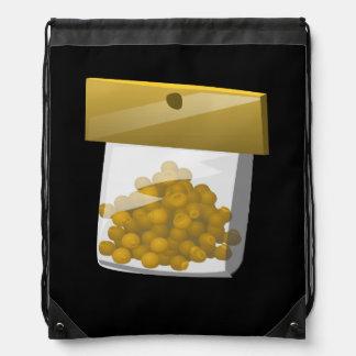 Glitch Food trump rub Drawstring Bag