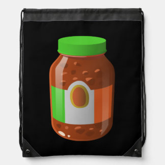 Glitch Food wicked bolognese sauce Drawstring Bag
