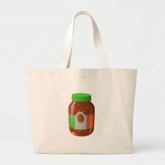 Glitch Food wicked bolognese sauce Large Tote Bag