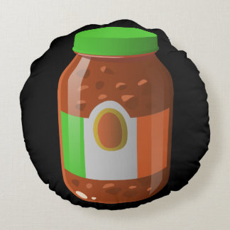 Glitch Food wicked bolognese sauce Round Pillow