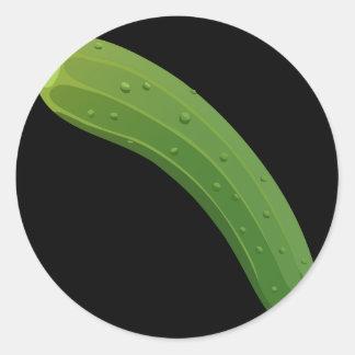 Glitch Food zucchini Classic Round Sticker