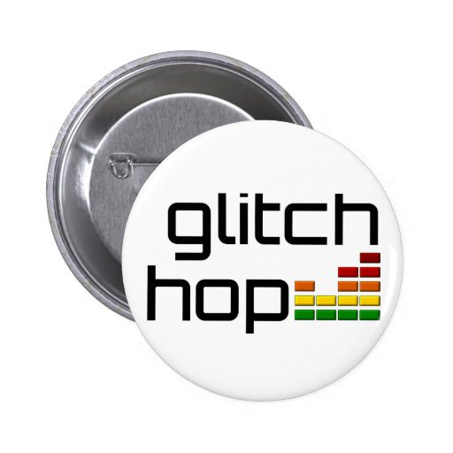 Glitch Hop with Volume Equalizer Pinback Buttons