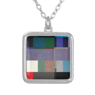 Glitch Number Eight Silver Plated Necklace
