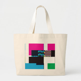Glitch Number Five Large Tote Bag