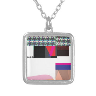 Glitch Number Three Silver Plated Necklace