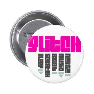 Glitch Pink 2 Inch Round Button