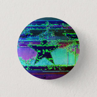 glitch star 1 inch round button