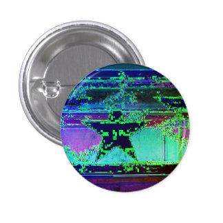 glitch star 1 inch round button