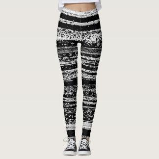 Glitched Printed Full Length Leggings