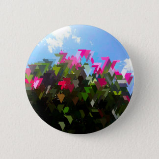 Glitchin' Flowers 2 Inch Round Button