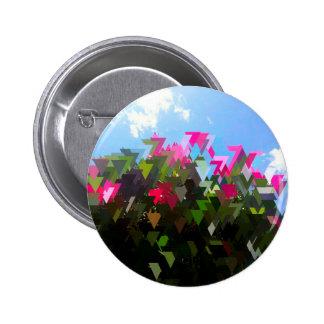Glitchin' Flowers 2 Inch Round Button