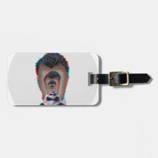 Glitchy Illusion Luggage Tag