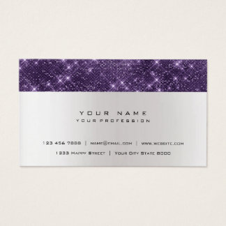 Glitter Amethyst Purple Gray Silver Urban Shimmer Business Card