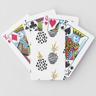 Glitter and black abstract pineapples. bicycle playing cards