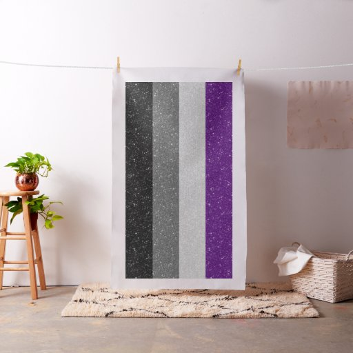 Glitter Asexual Pride Flag Fabric