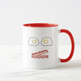 Glitter Bacon and Eggs Mug