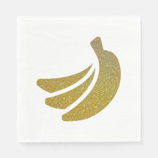 Glitter Banana Bunch Napkins Paper Napkin