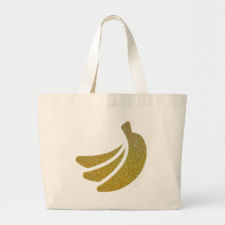 Glitter Banana Bunch Products Large Tote Bag