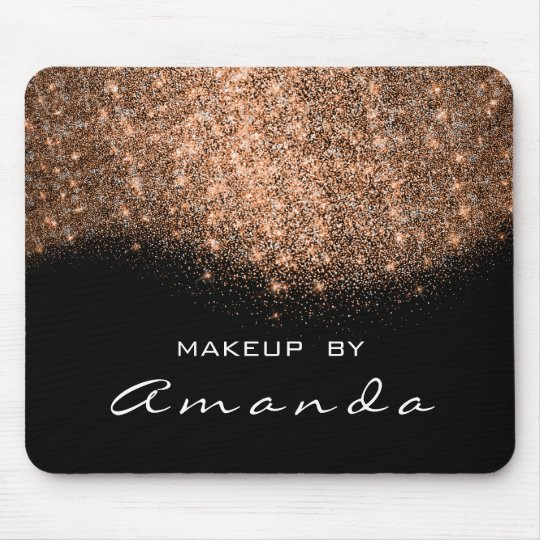 Glitter Beauty Studio Makeup Copper Black White Mouse Pad