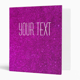 Glitter binder with faux pink glimmers