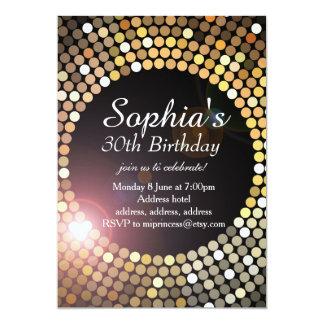 glitter birthday invitation