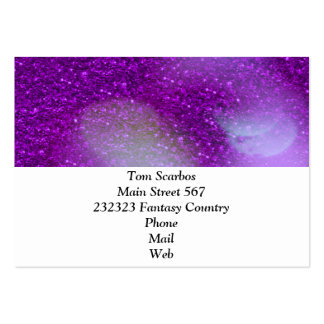 Glitter Bokeh, purple Pack Of Chubby Business Cards