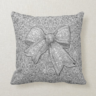 Glitter Bow La la land pillow. Throw Pillow