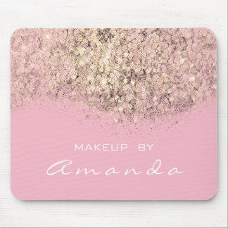 Glitter Branding Beauty Studio Makeup Gold Pink Mouse Pad