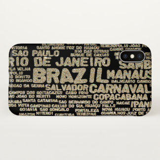 Glitter Brazil iPhone X Case